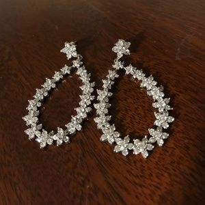 Express Crystal Flower Hoop Earrings
